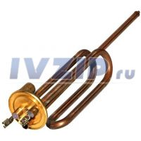 ТЭН для в/н 1500W RCA PA (длинные клеммы, фланец 48мм, под анод M6, Thermowatt) 3401259/3401242/816616