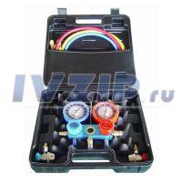 Коллектор DS-MC 01 в кейсе (R-134a) (+ шланги, муфты быстросъемные)