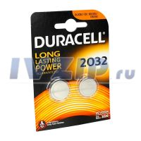 Батарейка DURACELL (DL/CR2032) Комплект 2шт.