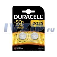 Батарейка DURACELL (DL/CR2025) Комплект 2шт.